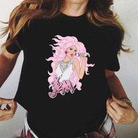 Women's T-Shirt Jem And The Holograms T Shirt Women Hip Hop Graphic Tees Summer Tshirts Streetwear 90s Fans Tshirt Female
