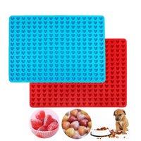 ПЭТ угощение Pan Mini Mini в форме сердца силиконовые выпечки коврик печенье печенье шоколадные капли плесени 255-полость без палки XBJK2103