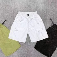Модный бренд дизайнер плиссированные легкие мужские шорты нейлоновые шнуры повседневные брюки мужские короткие колены пляж спорта фитнес одежда M-XL YP630
