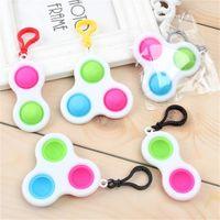 Stock Pop Push Bubble Key Chain Toys Anit Stress Ball Funny Relief Balls Fidget Simple Sensory DecomPresion Toy H316Jbn