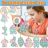 DHL 3-7 일 배달 무작위 미니 그 PITGET 장난감 키트 키 체인 자폐증 쪼개는 스트레스 릴리버 장난감 성인 어린이 안티 스트레스 세트 Antistress Toys BT12