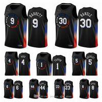 نيويوركنيكسرجال RJ Barrett Obi Toppin Cole Anthony Derrick Rose Elfrid Payton 2020-21 Black City كرة السلة جيرسي جديد موحد