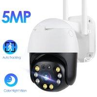 Cámaras 5MP HD Wifi Cámara IP PTZ AUTO SALIDA DE SEGURIDAD CCTV Vigilancia inalámbrica 1080P Alarma humana