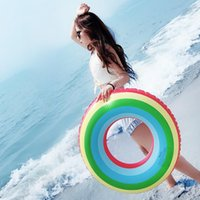 Life Vest & Buoy Beach Adult Swimming Ring Inflatable Summer Float Trainer Rings Thicken Round Creativity Gonfiabili Toys