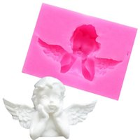 3D рама ангела силиконовые формы кекс топпер Fordant формы DIY украшения торта инструменты мыло глина конфеты шоколад гуманистый