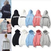 Hombres y mujeres Sudaderas Esenciales Esenciales Reflectantes Manga Larga Fleece Fashion Print Pullover Solid Hoodie Tamaño M-XXL