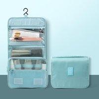 Storage Boxes & Bins Hanging Toiletry Bag With Hook Folding Travel Make Up Cosmetic Kit Organizer Splash Proof For Women Men H88F