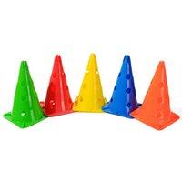 5 PCS 축구 장벽 에코 - 친화적 인 훈련 콘 튼튼한 럭비 휴대용로드 블록 스케이트 스포츠 마커 여러 가지 빛깔의