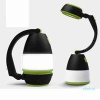 Lâmpadas de mesa multifuncionais 3 em 1 lâmpada de tenda LED lâmpada de acampamento luz de emergência casa USB recarregável lanternas portáteis zza2336