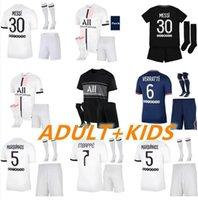 Paris MESSI MBAPPE HAKIMI SERGIO RAMOS Soccer Jerseys 21 22 MARQUINHOS WIJNALDUM Maillots Football Shirt 2021 2022 Men + Kids Kits Uniform Enfants Maillot De Foot