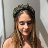 주름이없는 헤어 후프 모방 실크 루슈 헤드 밴드 헤어 액세서리 여성을위한 머리띠 우아한 패션 Organza Headwear