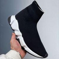 sock sneakers جورب أحذية الرجال النساء أحذية رياضية عادية ثلاثية أبيض أسود الكتابة على الجدران البيج نعل واضح إمرأة رجل chaussette موضة حذاء تنس خارجي منصة