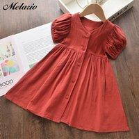 Mädchen Kleid Sommer Casual Kurzarm Prinzessin Kleider Für Mädchen Kinder Kleid Kostüme Nette Baby Mädchen Vestidos für 3 7Y