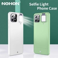 Nohon LED Fill Light Phone Case For iPhone 11 Pro Max 12 Cases with Selfie Ring Flash For iPhone X XR XS 7 8 Plus Back Cover G0929