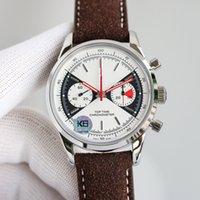 K6 Diâmetro de relógio masculino 41mm de espessura 14,27 mm com movimento suíço 7750 Movimento de temporização Sapphire Crystal Mirror Fine Steel Case