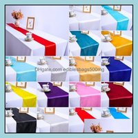 Runner Cloths Textiles Home & Gardensatin Wedding Banquet Event Decoration Runners Baby Shower Birthday Party Cake Table Decorations Bwb8423