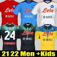 20 21 Erkekler + Çocuklar Napoli Futbol Jersey Napoli Futbol Gömlek 2021 Koulibaly Camiseta de Fútbol Insigne H.lozano Milik Maillots Mertens