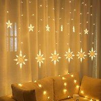 سلاسل 4.5 متر ستار أدى سلسلة ضوء نافذة ستارة الجنية عيد الميلاد ماء حفل زفاف ديكور المنزل داخلي في الهواء الطلق