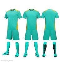 20 21 Short sleeve adult children's light board Soccer Sets Jerseys football suit boys and girls' class team training Dragon Boat unifo