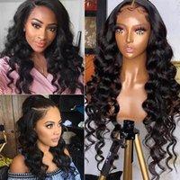 Alinybeauty Cheap Human Hair Wigs For Black Women Brazilian Virgin Cuticle Aligned Human Hair 4x4 Lace Front Wig Loose Wave Wig