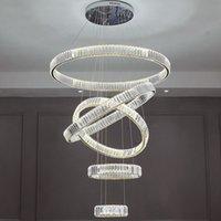 Round crystal pendant lamps ,  modern chandelier with gold chrome lamp for home lighting, living room, restaurant, DIY PL7215