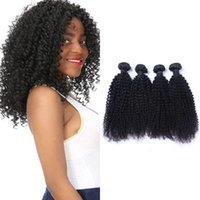 Mongolian Kinky Curly Bundles Non Remy Human Hair Extensions Natural Color 100G PC Machine Double Weft 3 Or 4 Bundle