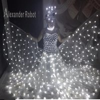 Stage Wear Costume  LED Luminous Butterfly   Costume  Alexander Robot LED Ballet Party Reception Clothingss