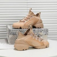 Dior shoes أزياء عالية الجودة lusso الأزياء والأحذية الإناث تصميم الجلود عالية الكعب عارضة الجري أحذية في الهواء الطلق الرجال والنساء الأحذية الراقية