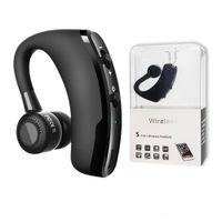 V9 V8 earphones Bluetooth headphones Handsfree wireless headset Business Drive Call Sports earbuds CSR 4.0
