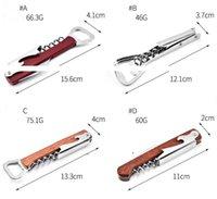 Wine Opener Stainless Steel Cork Screw Corkscrew Multi Function Bottle Opener Knife Pulltap Double Hinged Corkscrew Christmas OWD7050