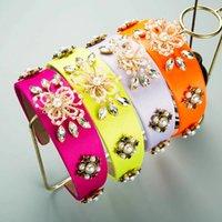 Урожай барокко семянные бусины цветок оголовье для женщин роскошные ручной работы из ручной работы из бисера
