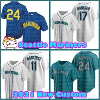 Seattle.Mariners Jerseys Baseball Mitch Haniger Edgar Marco Marco Gonzales Jake Fraley Kyle Seager Dylan Moore Evan
