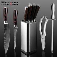 Xituo 4-8pcs / satz Chef Set Messer Edelstahl Japanische Santoku Kleader Brot Paring Schere Küchenwerkzeuge