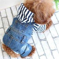 Vêtements d'animaux mignons pour tissu de petite et moyenne chien Quatre pieds Cowboy Vêtements Veste à capuche Fournitures (bleues) Vêtements