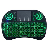 Dropship 미니 RII I8 무선 키보드 2.4G 에어 마우스 원격 제어 스마트 안드로이드 TV 박스 태블릿 PC에 대 한 터치 패드 백라이트 백라이트 영어