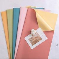 Papel de embalaje de regalo Bicolor Bicolor impermeable Papeles de envoltura floral Flores Presentes Embalaje Suministros para Fiesta Festiva Boda BWE5360