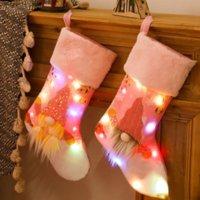 أدى تضيء عيد الميلاد تخزين هدية حقيبة عيد الميلاد شجرة قلادة ديكورات حلوى الجوارب الحلوى حقيبة المنزل حزب ديكورات A851