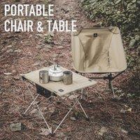 Ultralight Outdoor Camping Angeln Picknickstühle Falten Zusammenklappbare tragbare Tische Strandgetriebe Aluminiumlegierung Ausrüstung Zubehör