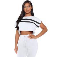 European And American Women Sportswear 2-piece Women's Top Ands Pants 6-color Design Leisure Jogging Sportswears