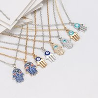 Fashion Women Designer Necklace Silver Gold Plated Chain Classic Evil Eye Hams hand Charms Pendant Jewelry Gift
