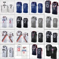 2021 Новый Баскетбол Джерси 13 Джордж 2 Леонард Сетка Ретро Мужские Женщины Молодежь Белый Синий Черный Грей