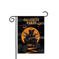 Pumpkin And Castle Cat Designs 30*45cm Halloween Flags Banners Family Holiday And Party Decorations Can Be Reused For Color Printing