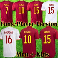 2021 Espana soccer jersey RODRIGO TORRES Spain Fans Player Version football shirts MORATA RAMOS THIAGO INIESTA kids kit españa equipment camisetas de futbol