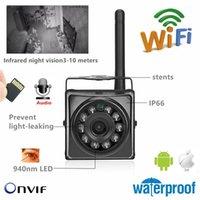 À Prova D 'Água ao ar livre 4K 8MP 1080P 720P 960P 3MP 5MP 940nm mini câmera IP IR WiFi com saída de entrada de áudio cartão sd slotreset cameras