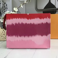 Louis Vuitton clutch bag Venta caliente Nuevas Mujeres Embrague Carteras Monedero High Genuine Cuero Calidad Marca Escale 26 Handbag Lindo Moda Clutch con Totes de Caja