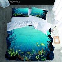 Bedding Sets Ocean World Comforter Green Duvet Cover Set Printing Quilt And Pillowcase Queen King Size Boys Teen Bedspread
