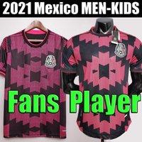 TOP 멕시코 축구 유니폼 홈 어웨이 Camisetas 20 21 CHICHARITO LOZANO DOS SANTOS 2020 2021 축구 셔츠 남성 + 키즈 키트 유니폼 maillots