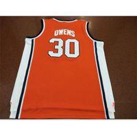 Kundenspezifische Bucht Jugendfrauenweinlese # 30 Billy Owens Washington Syrakus 1991 Basketball-Jersey Größe S-5XL oder benutzerdefinierte Name oder Nummer Jersey