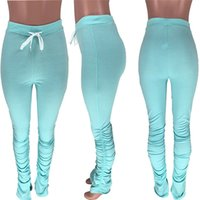 Stacked Leggings Joggers Stacked Sweatpants Women Ruched Pants Legging Jogging Femme Stacked Pants Women Sweat Pants Trousers Fashion 2XL
