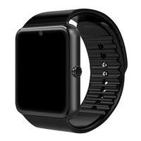 GT08 Smart Watch com slot de cartão SIM Tela de toque Android pulseira SmartWatch para Samsung Bluetooth chamadas relógios